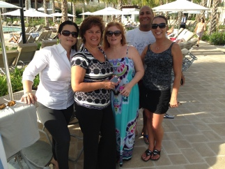 L to R: Sandra Bernal, Terri Gasch, Georgianne Graves, Elio Hidalgo and Michele Hall
