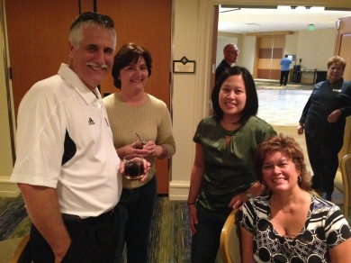 L to R: Darrel Gomes, Mrs. Gomes, Gail Cadorniga and Terri Gasch