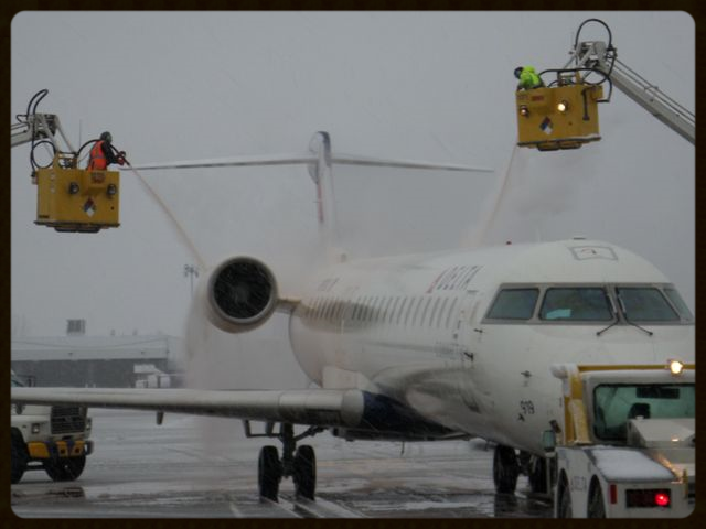 BDL - A HUGE Congratulations goes to the BDL team for surpassing last year's number of 609 aircraft deiced with 772 deicings so far. Not only did they surpass last year's number, they are STILL having to deice. Stay warm up there guys...it's almost over.