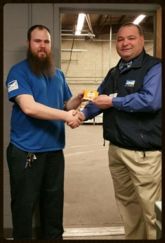 PVD- An outstanding job by our PVD Supervisor Matt Holten. Matt was challenged by a TSA agent and was then asked by the agent to perform an A/C search including seat, life vests, galleys, restrooms, and overheads. Matt performed the tasks asked by the agent and passed. Matt was awarded a gift card for a job well done!