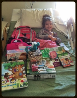 "JetStream recently donated to the Bags of Fun program. Bags of Fun exists to bring joy, laughter and relief to children fighting a life threatening disease or condition. Every bag is crafted for each child, taking into consideration the best means to reduce their tension and anxiety. Maelle was the recipient of the bag of goodies from JetStream . Maelle was diagnosed with a brain tumor on her optic nerve and has undergone multiple surgeries and chemotherapy. Maelle's mom sent an email thanking us and saying she is ""forever grateful for your organization and the kindness that you showed to our baby girl"""